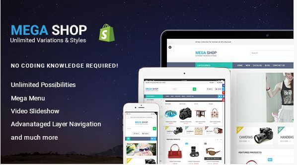 MegaShop Theme for Gadgets and Electronics Niche