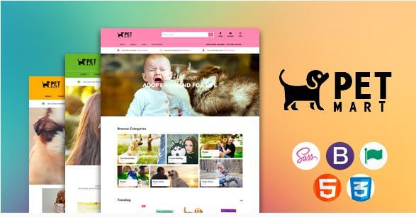 PetMart Theme for Pets and Animals Niche