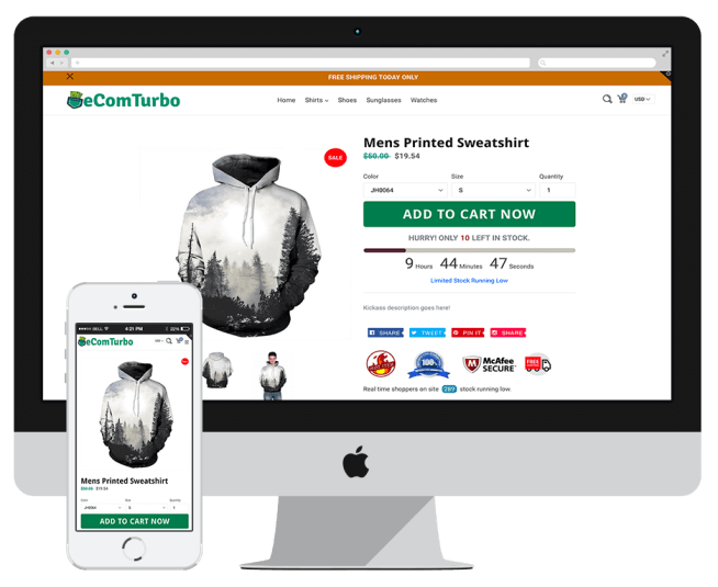 eCom Turbo Is The Best Converting Shopify Theme