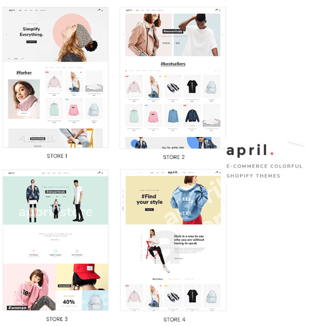 April Theme For Fashion and Clothing Niche