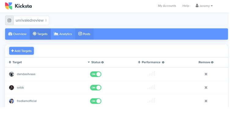 Kikcsta Screenshot Target