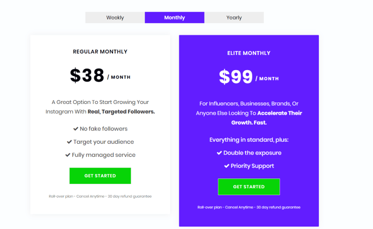 SocialSteeze Pricing Plans