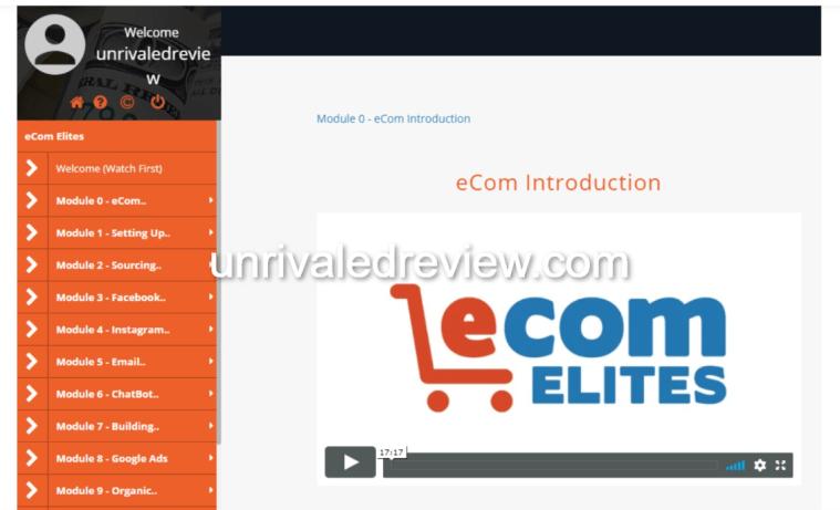 eCom Elites Review Course Intro