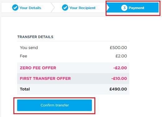 transfer bani lebara confirma plata
