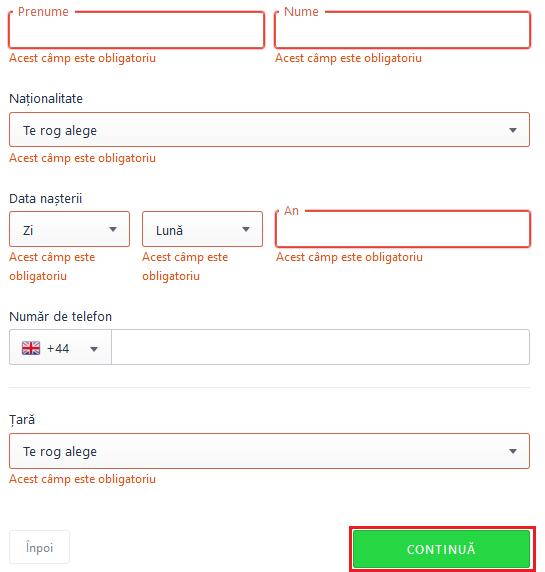 transfer bani transfergo date personale