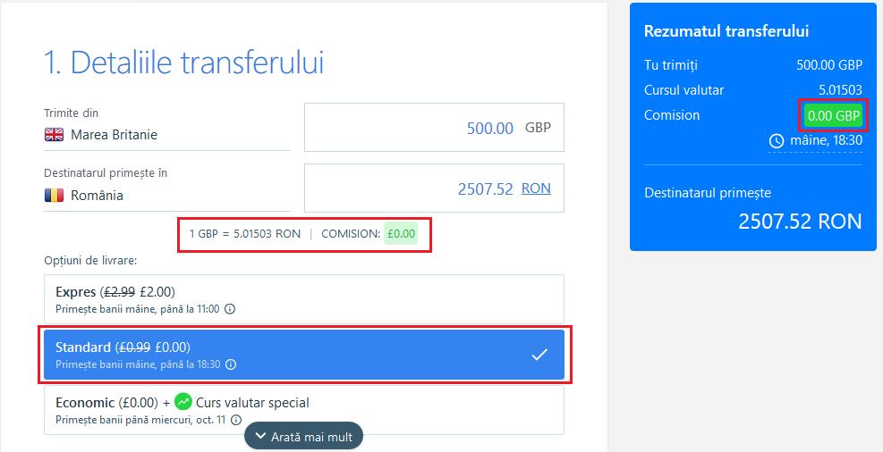 transfer bani transfergo detalii transfer