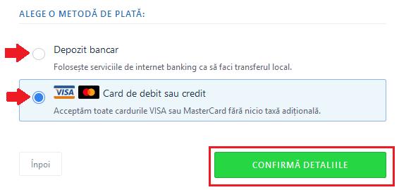 transfer bani transfergo metoda de plata cardul
