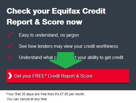 verifici credit score prima pagina, click pe buton update