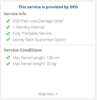 serviciul dpd include