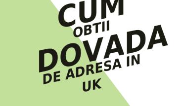 cum obtii dovada de adresa in uk