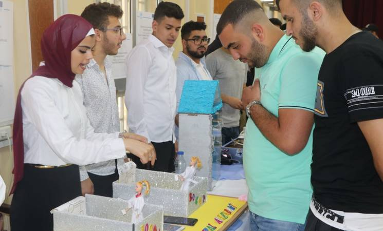 Students showcase their achievements in technical and vocational education and training (TVET) during the open day UNRWA organized, with support from the European Union, in Siblin Training Centre, Saida, southern of Lebanon. © 2019 Photo by Ahmad Mahmoud.