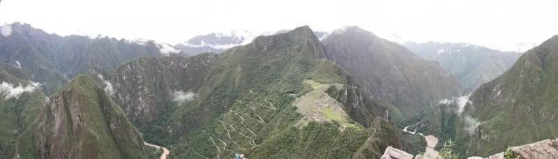 Panorama du Machu Picchu depuis Huayna Picchu