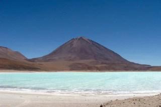 Laguna Verde aux vertes Bolivie Ande Uyuni