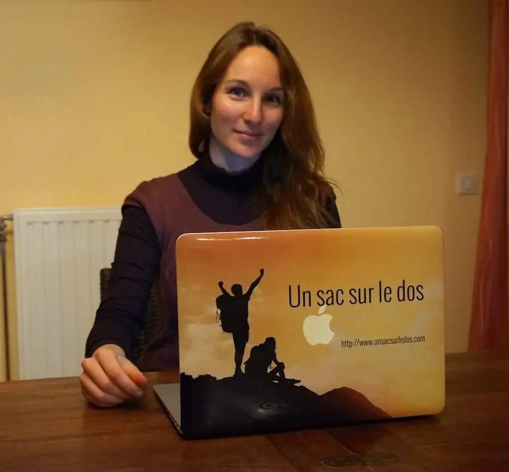 Mon cadeau de François : relooking de mon ordinateur portable aux couleurs du blog !
