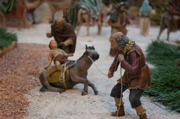 Crèche, Murcie, Murcia, enfant, âne