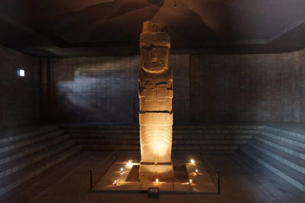 Musée Tiwanaku, Monolithe, Bennett, prêtre, Tiahuanacu, Bolivie