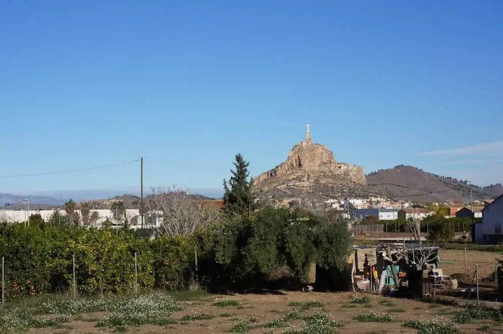 Espagne, hiver, soleil, Monteagudo, Murcie, Christ