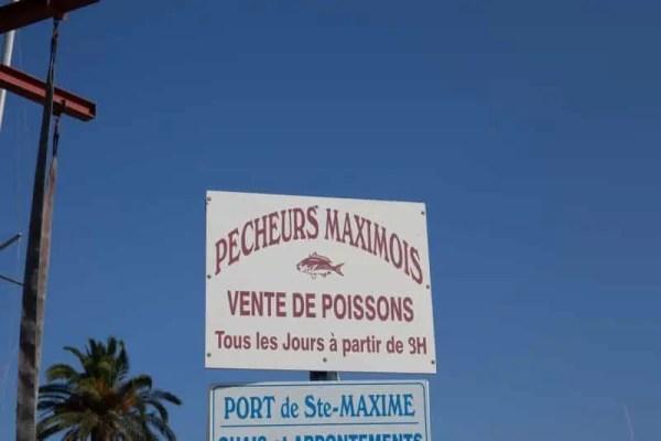 Petite pêche locale au port de Sainte-Maxime