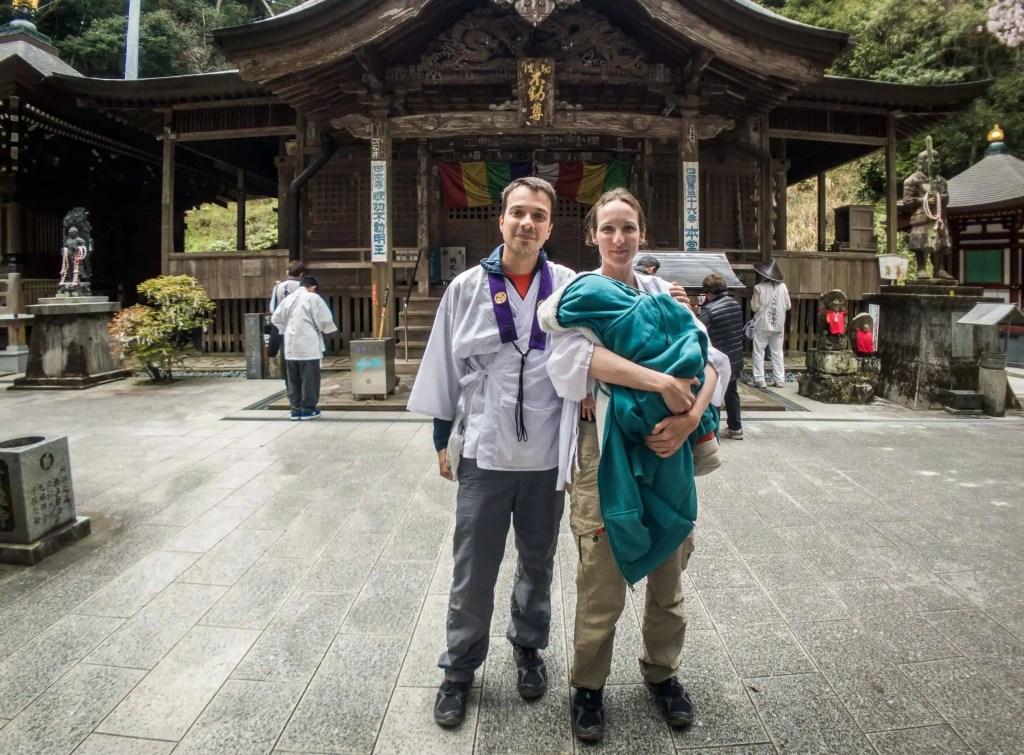 Shikoku, pèlerinage, pèlerin, famille, bébé, Japon, voyage, temple, 32, temple 32, vue, mer, océan, maman, Amandine, voyageuse, japonaise, temple 36, papa, François