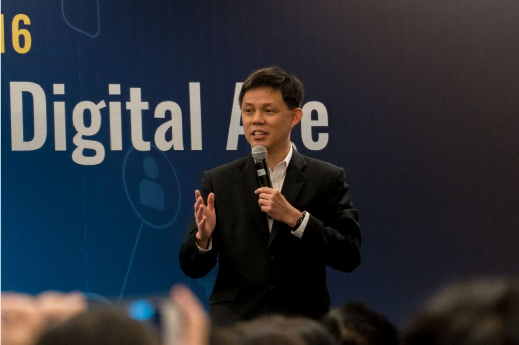 Labour Chief Chan Chun Sing speaking at U Future Leaders Summit 2016 (via Smithankyou.com)