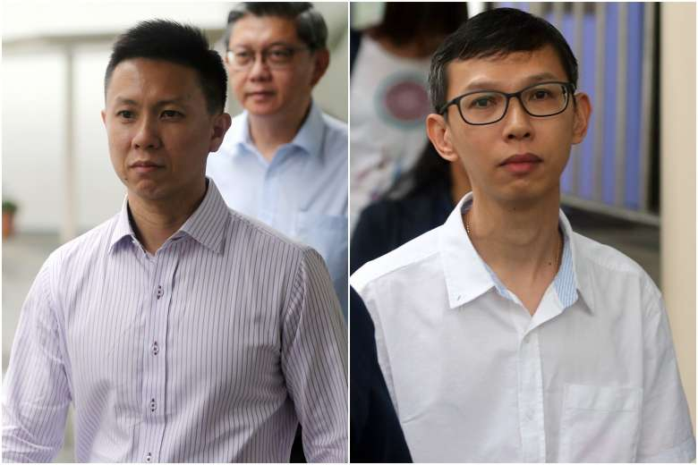 Teo Wee Kiat (left) and Lim Say Heng were charged in court on Thursday (Dec 1) over the accident along the MRT tracks earlier this year (2016) that claimed two lives. (via Straits Times / Wong Kwai Chow)