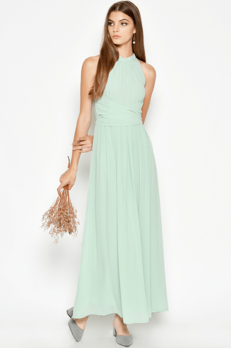 Bridesmaid dress Love and Bravery SOLANGE WRAP MAXI DRESS JADE