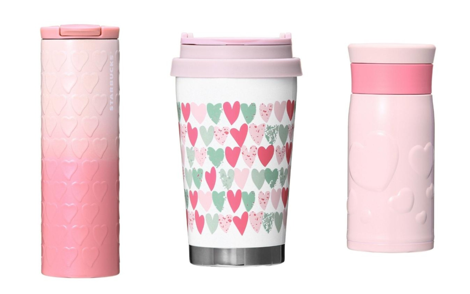 These pink Starbucks Valentine\'s Day tumblers are what you have been ...