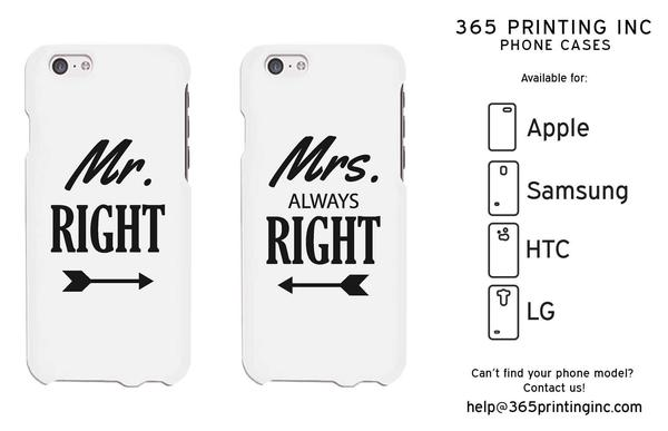 Mr RIght and Mrs Always Right Couple Phone Case