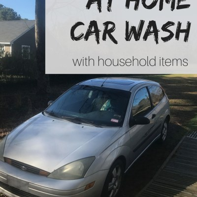 Home Car Wash with Household Ingredients