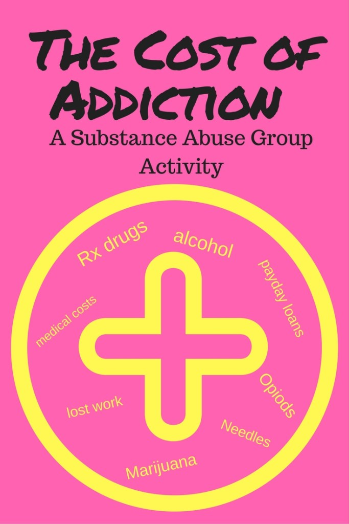 Cost Of Addiction A Substance Abuse Group Activity Unseen Footprints