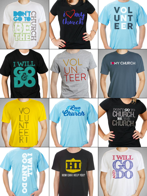 12 Free T Shirt Designs For Your Church