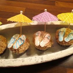 Schoko-Banane-Cupcakes