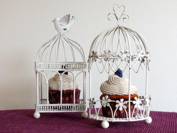 Veilchen Cupcakes