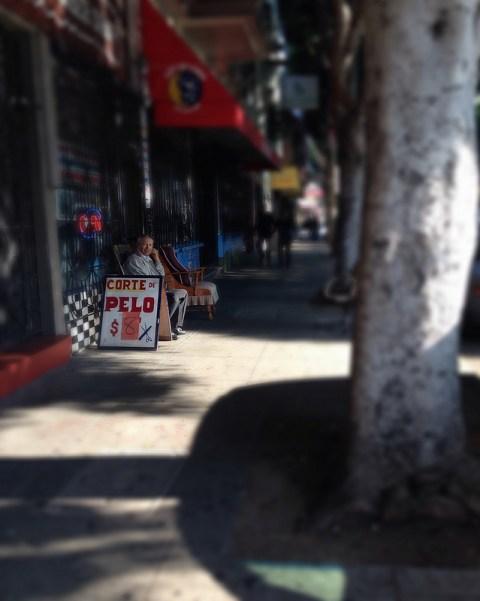Elder outside 24th St. Barber Shop