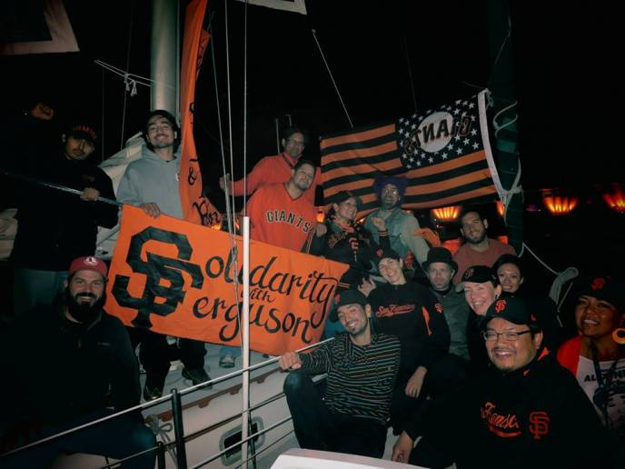 Peace Navy, McCovey Cove, 2014 Giants Playoffs