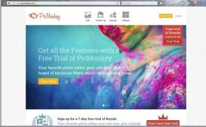 PicMonkey's homepage screenshot