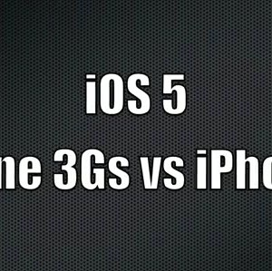 iPhone 3GS vs iPhone 4 sous iOS 5