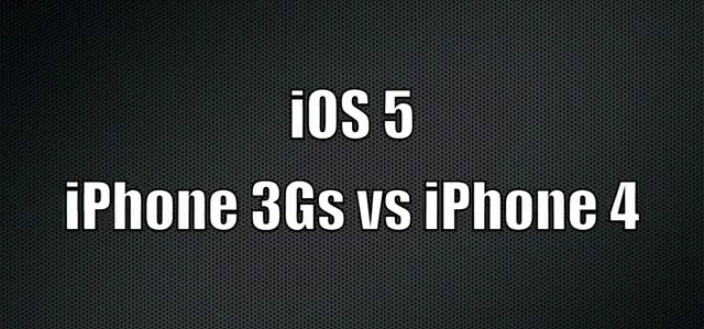 iPhone 3GS vs iPhone 4 sous iOS 5