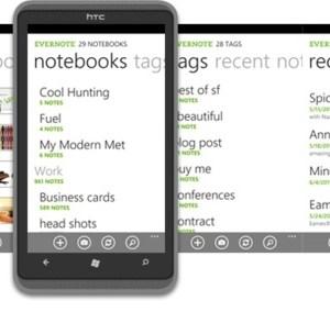 Evernote est disponible sur Windows Phone 7