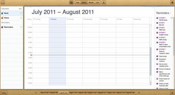 iCloud - Agenda