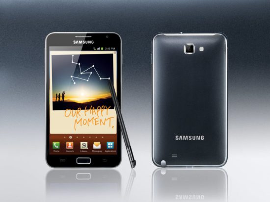 Galaxy Note et son stylet