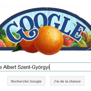 Google fête le 118ème anniversaire d'Albert Szent-Gyorgyi