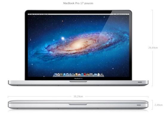 Apple met à jour les MacBook Pro - 17 pouces