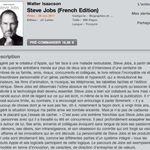 La biographie officielle de Steve Jobs disponible sur l'iBooks Store le 26 octobre