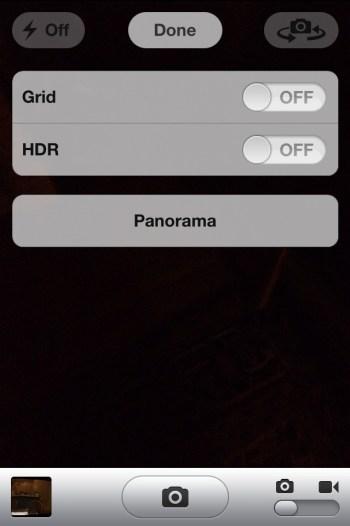 iOS 5 : activer le mode panorama caché