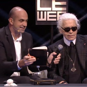 #LeWeb11 - Revivez l'intervention de Karl Lagerfeld, ce vrai fanboy