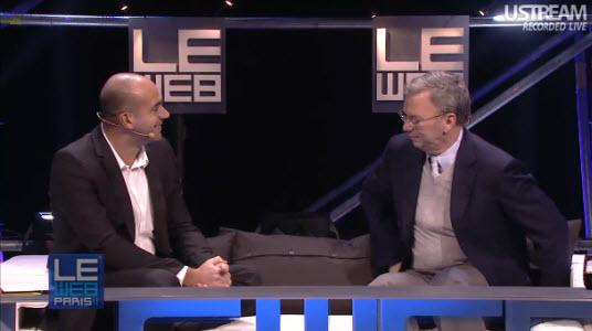 #LeWeb11 - Revivez l'intervention d'Eric Schmidt et la démo d'Android 4.0