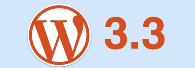 WordPress 3.3 est disponible