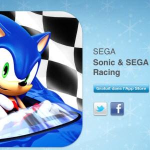"""12 jours cadeaux iTunes 2011 – Jour 5 : le jeu """"Sonic et SEGA All-Stars Racing"""""""