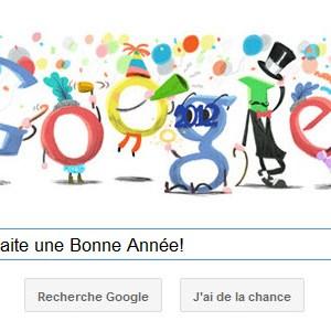 Google vous souhaite une Bonne Année!